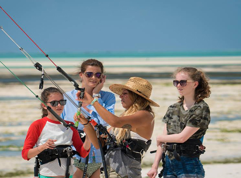 Kitesurfing in Zanzibar